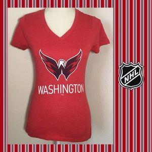 NHL Washington Capitals V Neck T-shirt